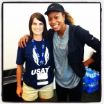 Me with Olympian Sonja Richards-Ross.